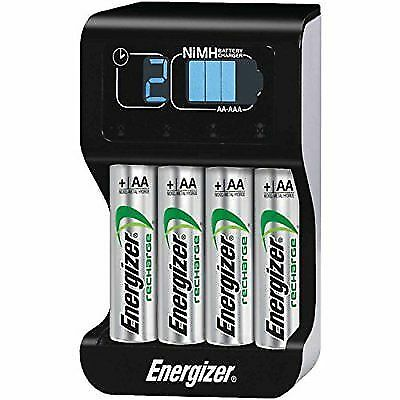 Energizer Recharge Pro Battery Charger W/ 4 AA Batteries