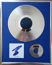 """New Order the best of gerahmte CD Cover +12"""" Vinyl goldene/platin Schallplatte"""