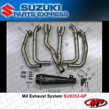 2008 - 2017 SUZUKI HAYABUSA 1300 M4 BLACK GP RETRO FULL EXHAUST SYSTEM SU8352-GP