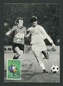 BELGIEN-MK-1977-FUssBALL-FOOTBALL-SOCCER-MAXIMUMKARTE-MAXIMUM-CARD-MC-CM-c9103