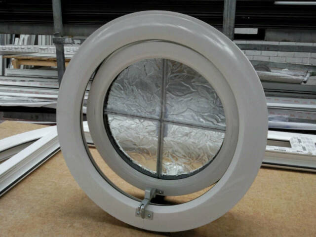 new product 688c3 f6031 uPVC PVC plastic round window opening circular double glazed replacement new