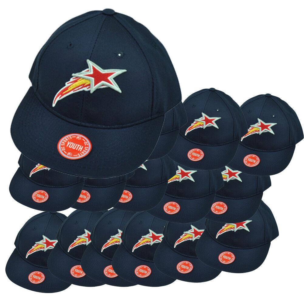 Milb Huntsville Stern Twill Baseball Set Of 15 Jugendliche Einstellbarer Hut