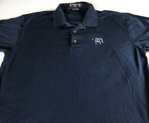 Yale-Bulldogs-Polo-Shirt-VTG-90s-Mens-Medium-Golf-Club-In-Mouth-Student-Alumni