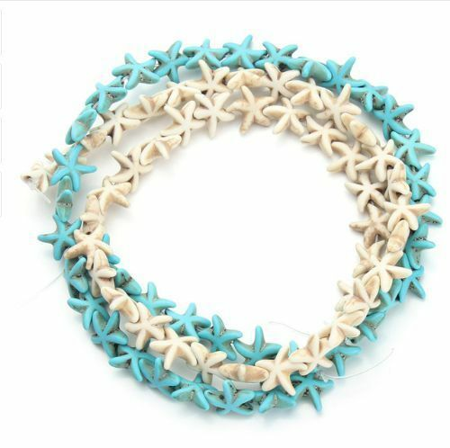 Wholesale lot Starfish Loose Spacer Blue White Turquoise Small Seed Beads DIY