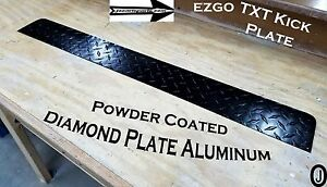 Can You Powder Coat Aluminum >> Details About Ezgo Txt Golf Cart Black Powder Coated Aluminum Diamond Plate Kick Panel