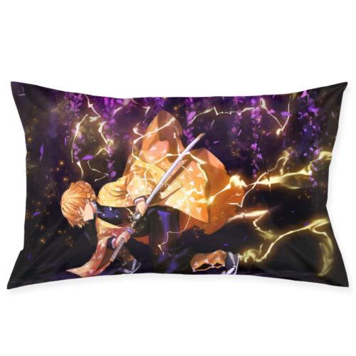 Demon Slayer Kamado Pillowcase Queen Size Velvet Zipper Pillow Protector Cover