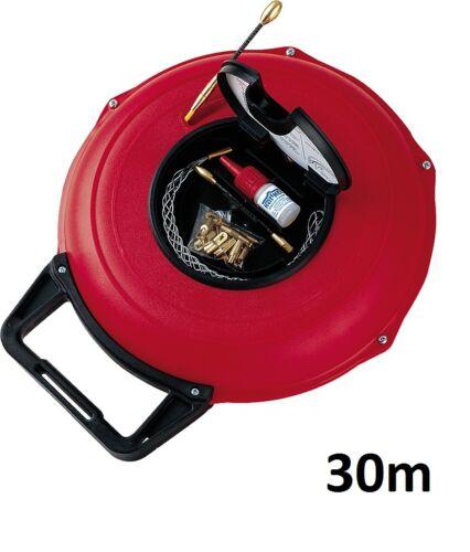 Kabeleinziehgerät Kati ® Blitz compact Kabeleinzug Kabeleinziehsystem 30m in rot
