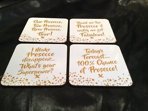 Prosecco-Coaster-Drink-Mats-Set-Of-4-Gold-Boxed