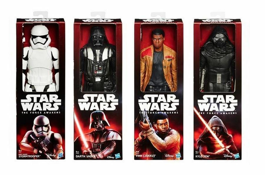 "STAR WARS FORCE AWAKENS FINN DARTH VADER KYLO REN STORMTROOPER 12"" FIGURES NEW"