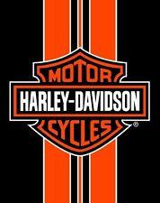 Harley Davidson Orange Stripe Bath, Pool, Beach Towel 54x68 Two Person LICENSED!