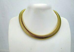 Vintage-Monet-Signed-Gold-Tone-Omega-Collar-Bib-Necklace-Choker-16-034