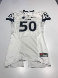 check out 5f3ac af32c Details about Game Worn Used Nevada Wolfpack Football Jersey Nike Size M #50