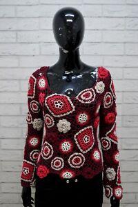 Maglione-MAX-amp-CO-Donna-Taglia-M-Slim-Pullover-Cardigan-Sweater-Woman-Viola