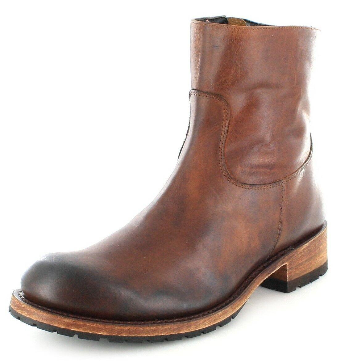 Sendra Stiefel 9491 Evolution Tang Herren Lederstiefel Braun Chelsea Stiefel
