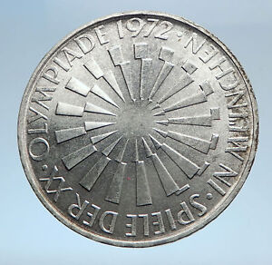 1972-Germany-Munich-Summer-Olympic-Games-SPIRAL-10-Mark-Silver-Coin-i74043