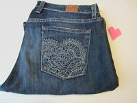 Lucky Jeans Women's 16/33 Short Sweet N Low Dark Blue Wash Sun Stitch Pocket