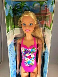 15e0499fe7 Image is loading Mattel-Barbie-Water-Play-Blonde-Beach-Doll