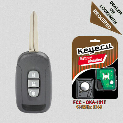 New Key Fob Remote Shell Case For a 2012 Chevrolet Captiva Sport w// 3 Buttons