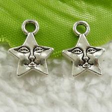 Free Ship 64pcs tibet silver moon star charms 30x17mm B5003