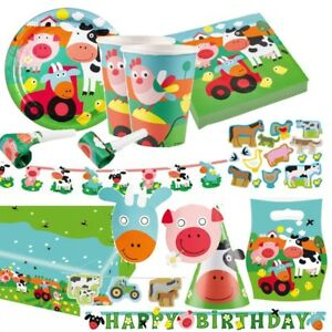 Bauernhof tiere farm fun partygeschirr alles zum kinder geburtstag party deko ebay - Party deko kinder ...