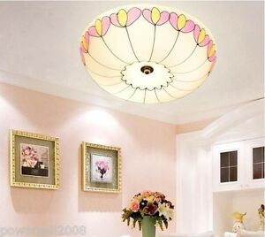 European-Rural-Style-3-Lights-Diameter-35CM-Height-10CM-Bedroom-Ceiling-Light-E