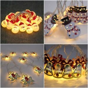 Snowman-LED-String-Fairy-Lights-Battery-Wedding-Party-Home-Christmas-Decoration
