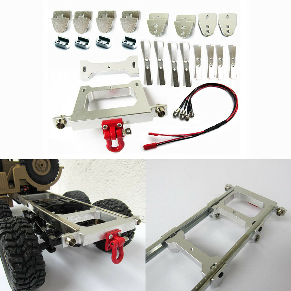 RC Car DIY Assembly Metal Chassis Modified Rear Bumper For WPL B14 B24 B16 1 16
