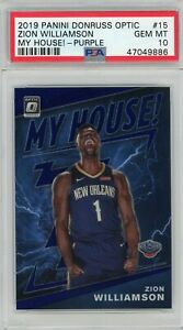 Zion-Williamson-2019-Panini-Donruss-Optic-My-House-Prizm-Rookie-Card-15-PSA-10