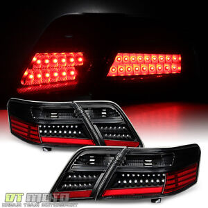 4pc black 2007 2008 2009 toyota camry l le se xle led tail lights left right ebay. Black Bedroom Furniture Sets. Home Design Ideas