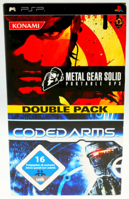 Metal Gear Solid Portable Ops Coded Arms Double Pack Playstation Portable PSP