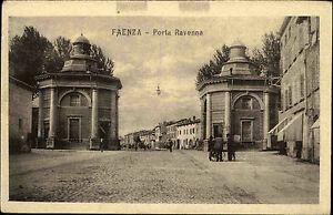 Faenza-Italien-Italia-Ravenna-1910-20-Porta-Ravenna-Stadtansicht-Strasse-Strada