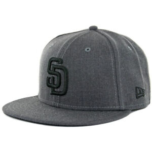 34c2cdd3076 New Era 59Fifty San Diego Padres HGP BK Fitted Hat (Heather Graphite ...