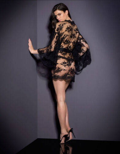 il tulle nero Sexy calza floreali per rifiniture per bambine autoreggenti con corpo bianca Biancheria intima 10 Uk puro in XTXOxz