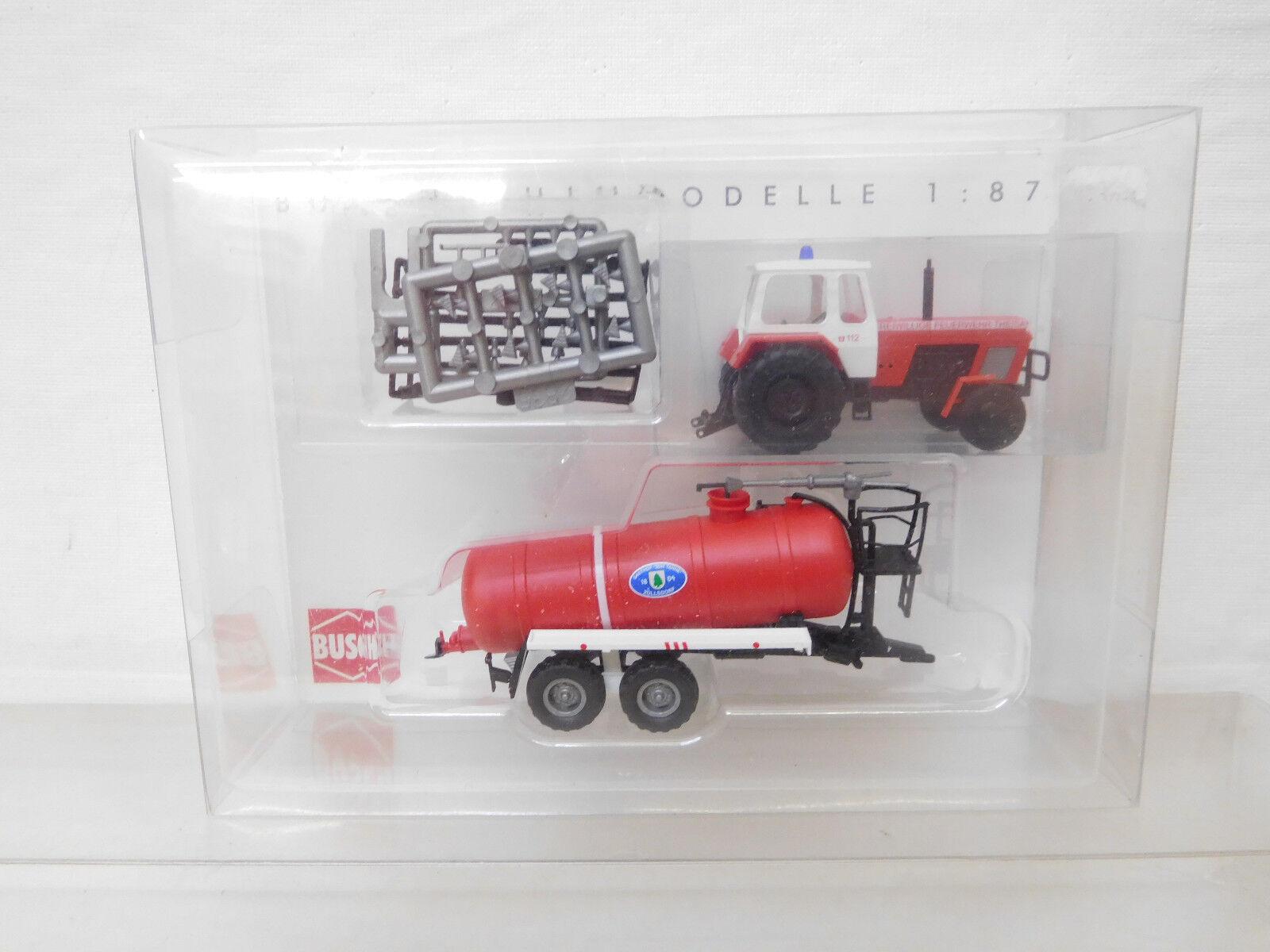 MES-55729 Busch 1 87 Traktor ZT 300 Feuerwehr Theisa sehr guter Zustand