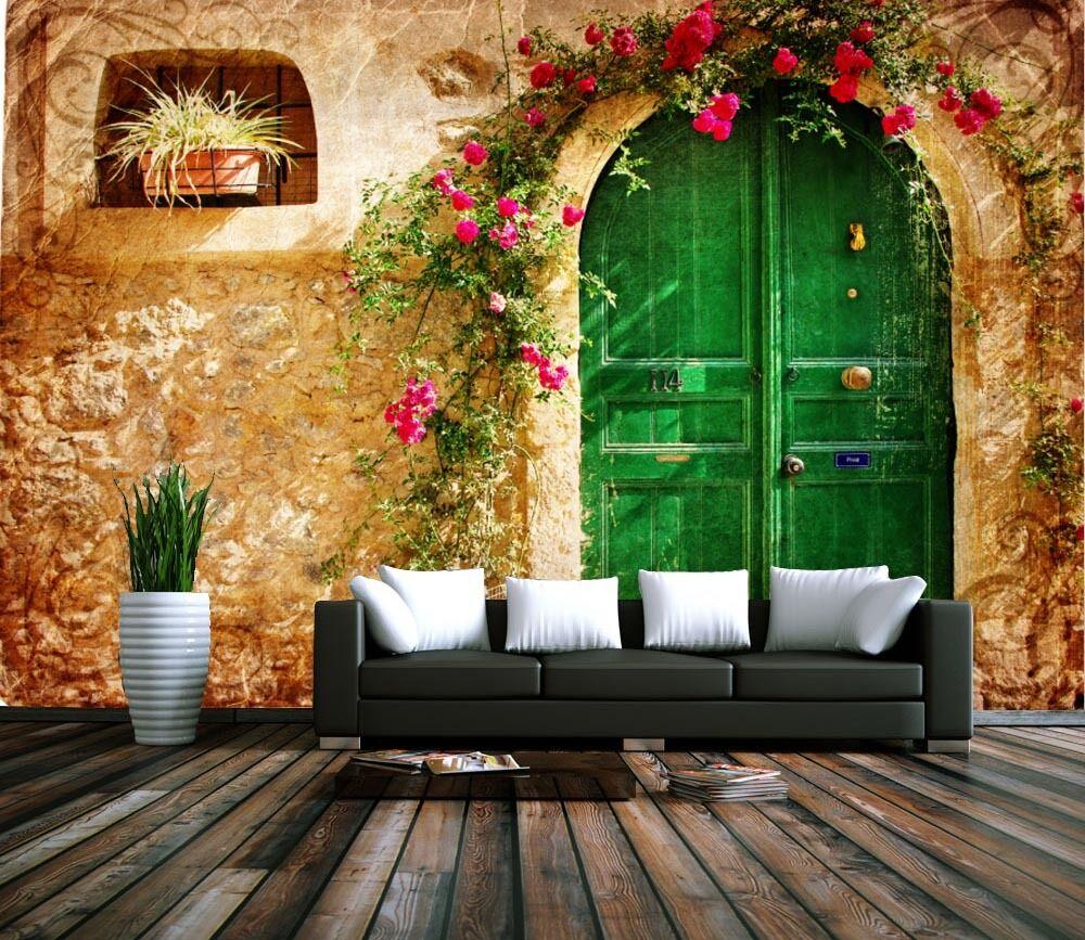 3D Die Tür der Grünen Kreis85 Fototapeten Wandbild Fototapete BildTapete Familie