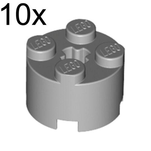 LEGO 10x Light Bluish Gray Brick Round 2 x 2 with Axle Hole 4211526 3941