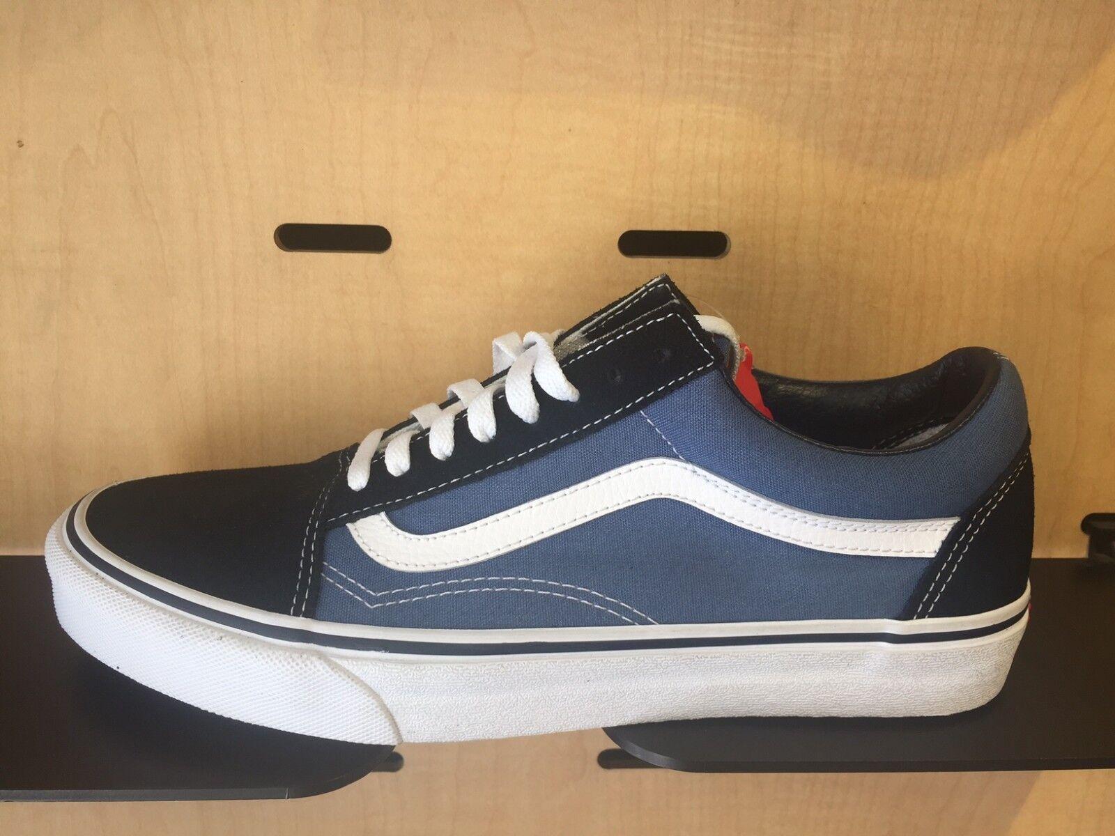 Vans Old Skool Black Navy White Size 8-13 New