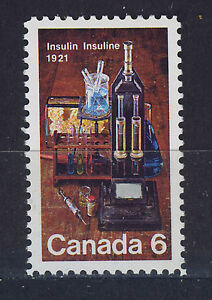 CANADA-1971-MNH-SC-533-Discovery-of-insulin-by-Bating-and-Best