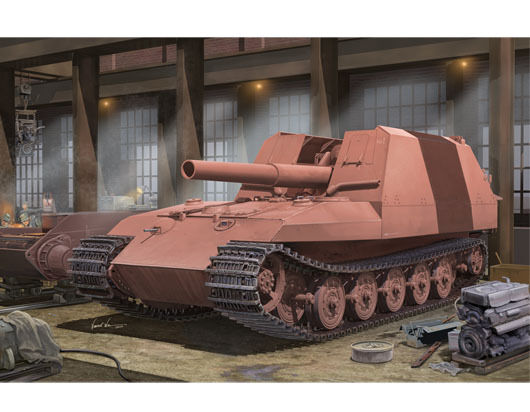 Geschutzwagen Tiger Grille 21 210mm Mortar 18 1 L 31Tank Plastic Kit 1 35 Model