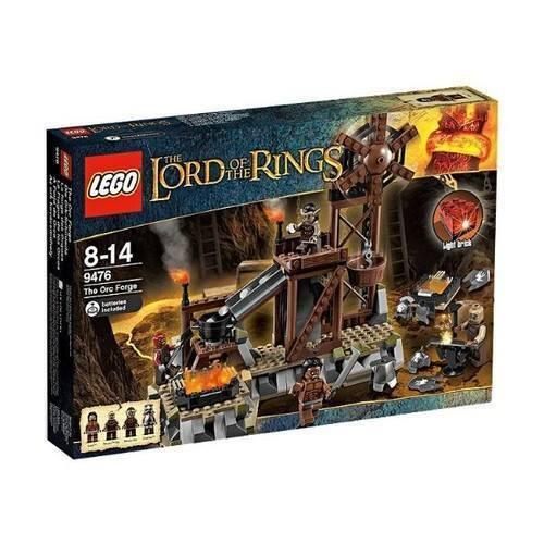 Nouveau Lego 9476 le seigneur des anneaux l'Orc FORGE Exclusive Set Lumière Brique Difficile à trouver