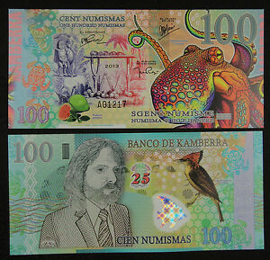 Kamberra-100-Numismas-POLYMER-UNC-2013-Commemorative-Octopus