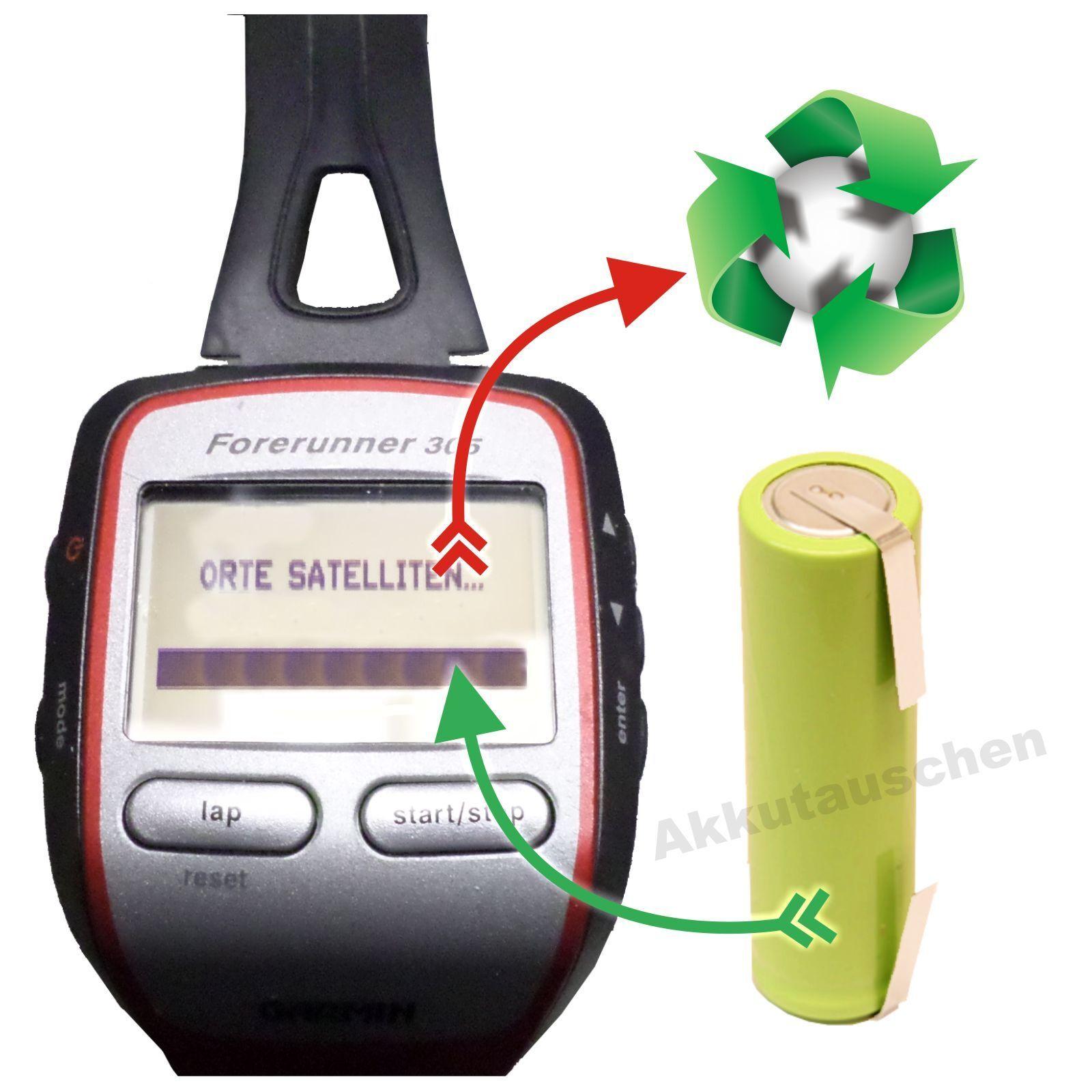 BATTERIA scambio cambio batteria battery exchange laufuhr GPS GPS laufuhr Garmin Forerunner 205/305 a2ea72