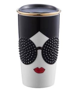 New 2015 Starbucks Alice Olivia Stace Face 12 oz Double Wall Tumbler Travel Mug