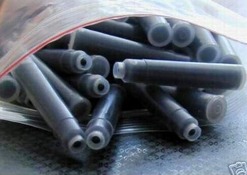 80 German Fountain Pen Ink Cartridges, Refills for BAOER pens in BLACK (new)