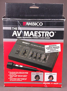 Audio For Video New Ambico Av Maestro V-0629 Video Enhancer/stereo Audio Mixer Boosts Video Sign Buy One Get One Free