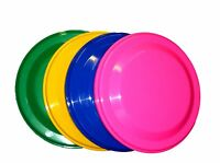 4 Flyers Frisbees 1 Each Pink, Green, Yellow, Blue - Mfg. Usa Lead Free