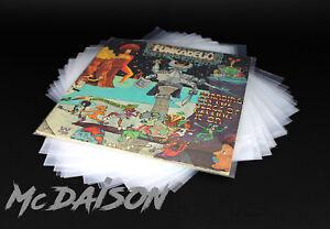 McDAISON-100-BUSTE-per-DISCHI-LP-POLIETILENE-100my-esterna-trasparente-vinile