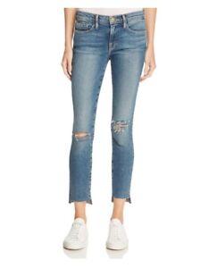 37e2146ad1a5 Frame Denim Womens Le Skinny De Jeanne Step Raw Hem Size 25 NEW 0347 ...