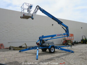 2013-Genie-TZ-50-50-039-Electric-Towable-Boom-Lift-Man-Aerial-Platform-Hybrid-Honda