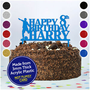 PERSONALISED-Kids-Birthday-Cake-Topper-ANY-NAME-amp-AGE-Football-Cake-Toppers-Boys